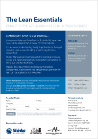 Lean Essentials Flyer