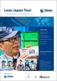 Lean Japan Tour December 2016 Brochure Cover