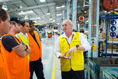 Factory manager leading a lean journey